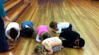 Monday 3.30pm preschool drama class showing us their emotions.
