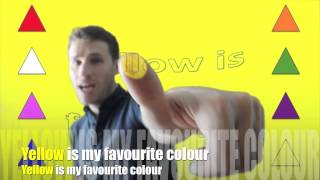 Colors song | Colours song | Yellow | Song for children | English Through Music