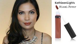 KathleenLights Miami Fever Liquid Lipstick Review | Peach Phillips