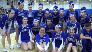 Attleboro High School - Hockomock Cheerleading Championship 2017