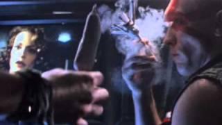 Death Machine (1995) Joint smoking full scene