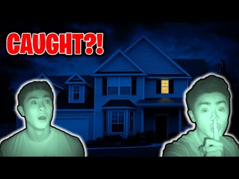 I Spent the Night in My Own House CAUGHT 24 Hour Overnight Challenge