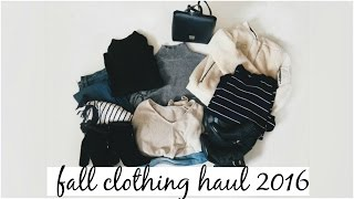 TRY-ON FALL CLOTHING HAUL 2016