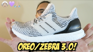 Authentic Adidas Ultra Boost 3.0 Zebra Oreo S80636 Size 8 UB Box in