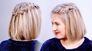 HOW TO: Waterfall Braid Crown Hairstyle & GIVEAWAY | Milabu