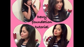 How To Apply Foundation For Full Coverage | Foundation Routine And Makeup Tips |  Dewy Glowing Skin