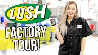 Lush Factory Tour!! Making Bath Bombs, Ocean Salt & More!