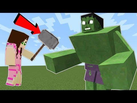 Minecraft THE HULK HULK WILL SMASH YOU Mod Showcase