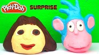Play-Doh Dora The Explorer, Peppa Pig and Spongebob Squarepants Surprise Eggs