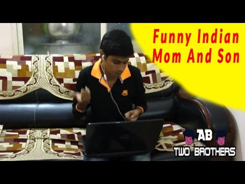 Indian Mom And Son reaction funny