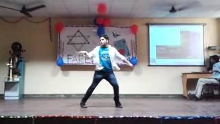 Dance on Jine mera Dil lutiya by Shubhanshu @ RBMI farewell party