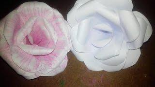 কিভাবে বানাবেন কাগজের গোলাপ - How to make a rose by papers (Bangla origami  Ep-3)