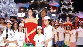 Ananya Pandey Unveils Special Christmas Decor With Kids At The Palladium Mall