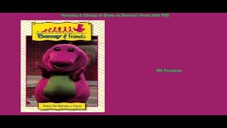Down on Barney's Farm 1992 VHS Opening & Closing
