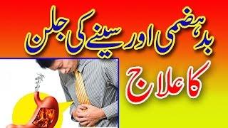 Badhazmi Aur Seene Ki Jalan Ka Ilaj - Acidity Treatment In Urdu / Hindi