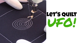 Beginner Machine Quilting UFO Circles - Basic Free Motion Quilting Tutorial #476 with Leah Day