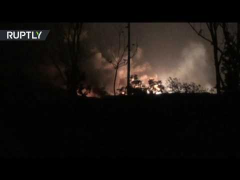 watch Israel strikes Syrian military airport near Damascus - army