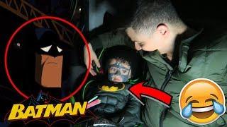 باتمان نسخة مزورة !! ردة فعل باتمان لما شافو !!! 😂