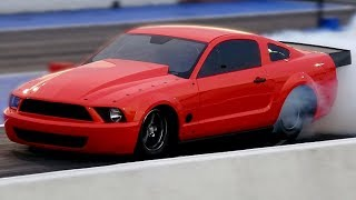 Boosted GT New Mustang First Test Hit on No Prep Track (and it breaks)