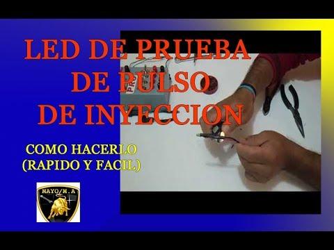 Led probador de pulsos de inyeccion casero facil y rapido de hacer