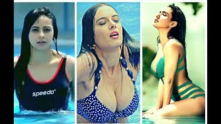 Indian actresses hot swimming pool compilation