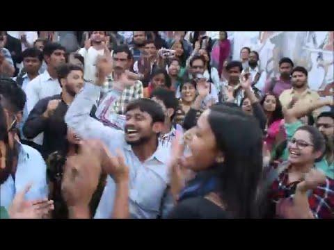 Azadi song again | advance Holi at JNU | Kanhaiya celebrates | Umar & Anirban gets bail 18 th March