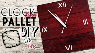 DIY - clock from pallet