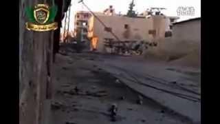 Cận cảnh chiến trường syria phần 2:xe tăng bắn thẳng vào những kẻ khủng bố.