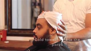 Bald Head Shave With Straight Razor | Hot Towel Head Shave Tutorial