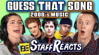 GUESS THAT SONG CHALLENGE: 2000s SONGS! (ft. FBE STAFF)