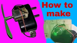 How to make a powerful fan with mobile charger at home