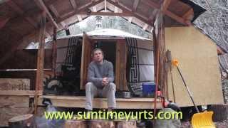 Wood Stove + Yurt = Warmth