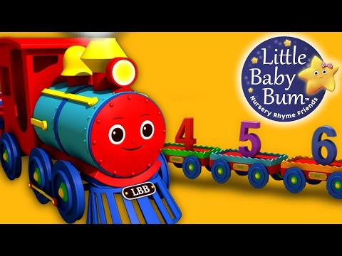 Numbers Song for Children - 1 to 20 Number Train | By LittleBabyBum! | HD Version 3D Animation