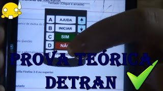 PROVA TEÓRICA DETRAN - COMO PASSAR