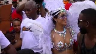Rihanna Half Nude at Kadooment in Barbados