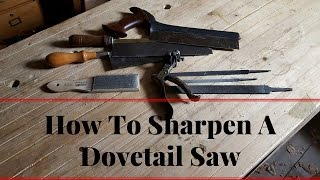 How To Sharpen A Dovetail Saw - Rip Saw
