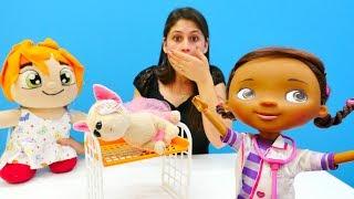 Ayşe Loli'yi acil'e götürüyor. #Eğitici çocuk videosu. Oyuncak doktor seti ve #doktoroyunları