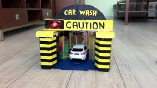 DIY Car Wash toy for kids made of cardboard