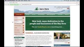 Bank of Marin Online Banking Login Instructions