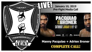 Pacquiao vs Broner WBA Welterweight World Championship Pre-Fight Media Call (LIVE! / 10:30am PT)