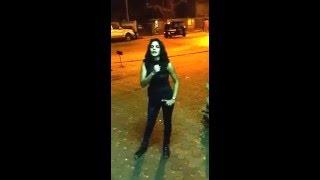 Drunk Girl abusing outside Oshiwara Police station !!!!