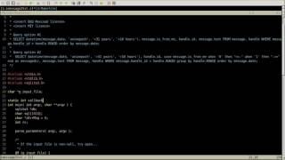 Midnight Coding in C - writing an iOS sms.db to text converter for linux