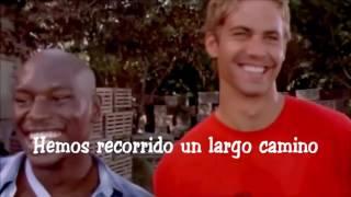 La emotiva canción del final de Rápidos y Furiosos 7 en homenaje a Paul Walker (Sub Español)