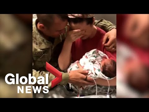 Xxx Mp4 Viral Video Shows Wife S Surprise As Soldier Husband Returns For Birth Of Twins 3gp Sex