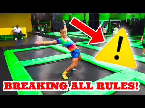 BREAKING ALL THE RULES AT TRAMPOLINE PARK
