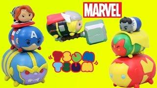 Marvel Tsum Tsum Stackable Three Packs Captain America Iron Man Black Widow Hulk Vision Thanos