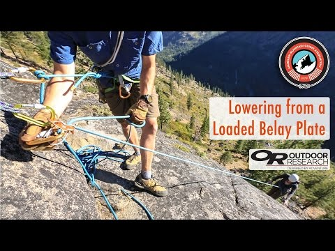 How To Lower A Climber From A Loaded Auto-Locking Device