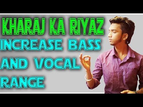 KHARAJ ka RIYAZ (Lower Notes Practice) For Incresing Vocal Range and Bass Easy HIndi Lesson