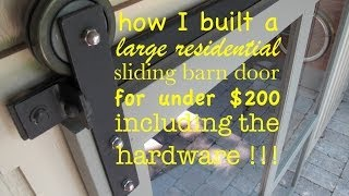 how to make ● A SLIDING DOOR and the HARDWARE yourself!! (super quiet)