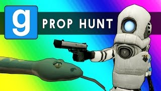 Gmod Prop Hunt Funny Moments - Little Hunter Edition! (Garry's Mod)